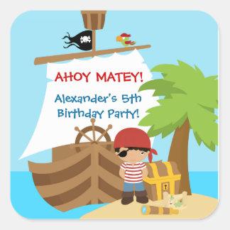 Pirate Ship Boy Birthday Party Sticker