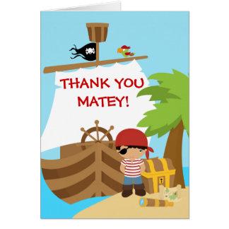 Pirate Ship Boy Birthday Thank You Card
