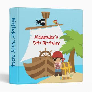 Pirate Ship BoyBirthday Party Photo Album Binder