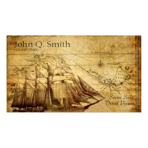pirate ship Double-Sided standard business cards (Pack of 100)