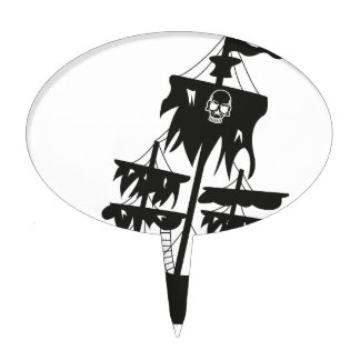 Pirate ship cake toppers
