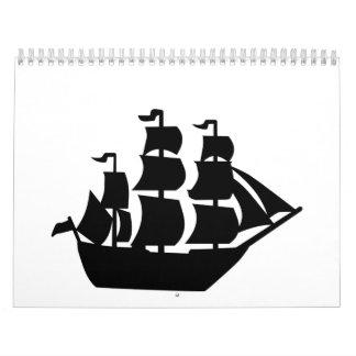 Pirate ship calendar