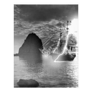 Pirate Ship Catalina Island Lightning Letterhead