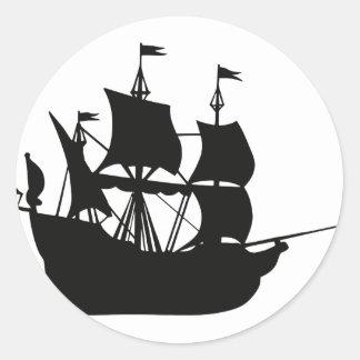 Pirate Ship Classic Round Sticker