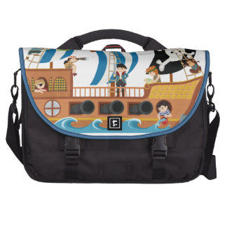 Pirate ship corsair laptop commuter bag