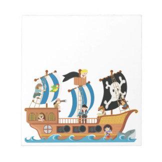 Pirate ship corsair notepad