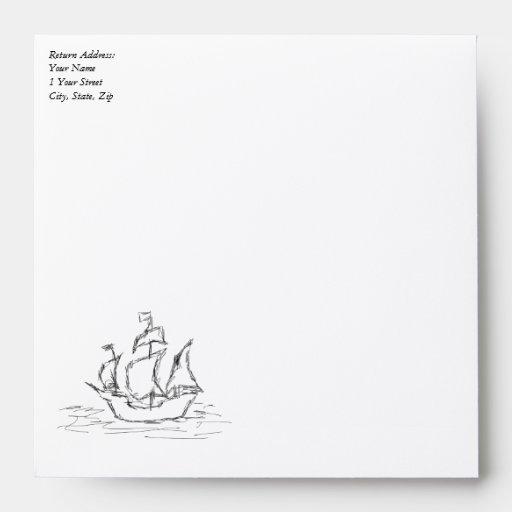 Pirate ship. envelope