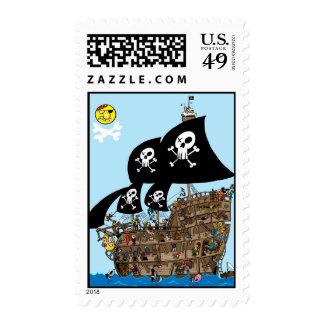 Pirate Ship Escape! Stamp
