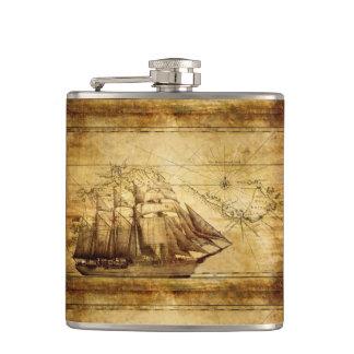 pirate ship explorer s flask