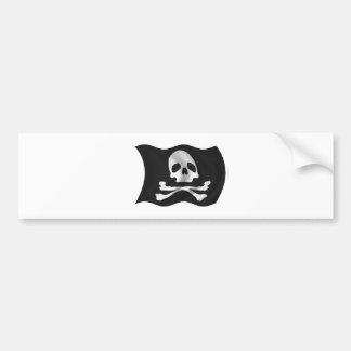 Pirate Ship Flag Bumper Sticker