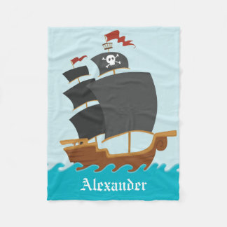 Pirate Ship Fleece Blanket