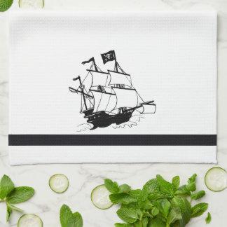 Pirate Ship Hand Towel
