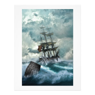 Pirate Ship In A Storm Letterhead