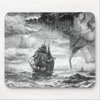 Pirate Ship in a Storm Mouse Pads