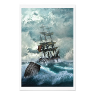 Pirate Ship In A Storm Stationery