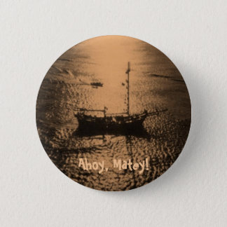 Pirate Ship in bronze Pinback Button