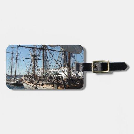 Pirate Ship in San Diego, California Luggage Tag