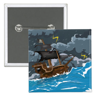 Pirate Ship in Storm Pin
