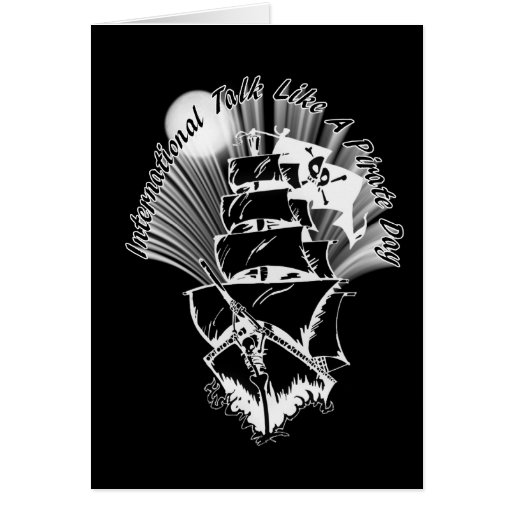 Pirate Ship - International Talk Like a Pirate Day Card