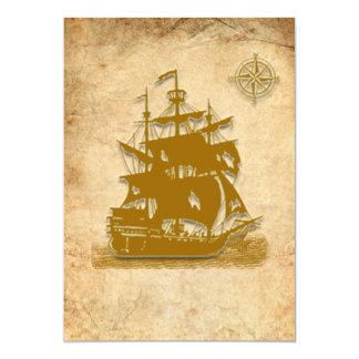 Pirate Ship Invitation-style 1 Card