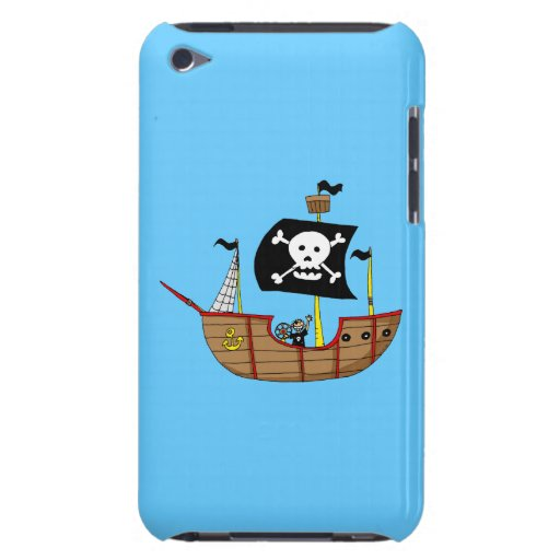 Pirate ship iPod touch cases