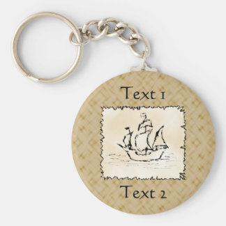 Pirate Ship. Keychain