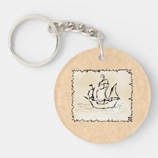 Pirate Ship. Acrylic Keychain