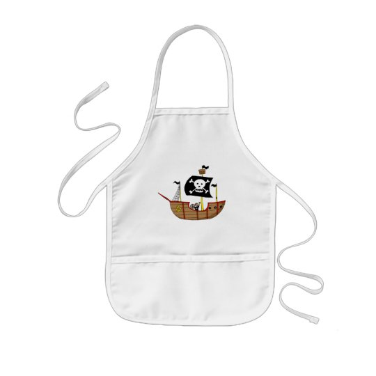 Pirate ship kids' apron