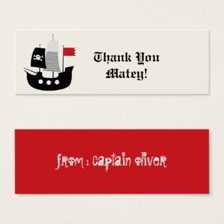 Pirate Ship Kids Birthday Party Favor Gift Tag