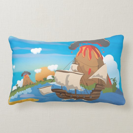 Pirate Ship Lumbar Pillow