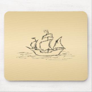 Pirate ship mousepad