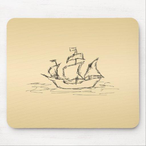 Pirate ship. mousepad