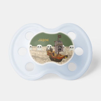Pirate Ship,  Name Personalization Pacifier