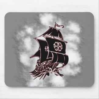 Pirate Ship Nautical Mouse Pad
