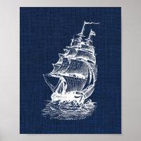 Pirate Ship Nautical Print