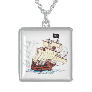 Pirate Ship Neckwear Sterling Silver Necklace