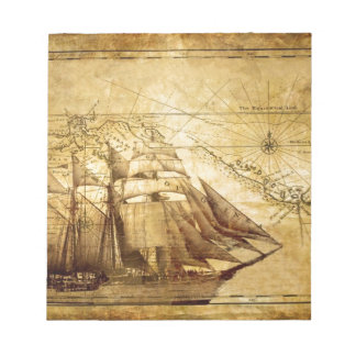 pirate ship note pad