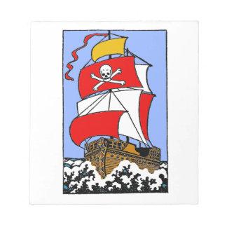 Pirate Ship Notepad