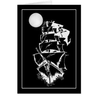 Pirate Ship on the High Seas Card