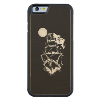 Pirate Ship on the High Seas Carved® Maple iPhone 6 Bumper Case