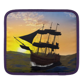 Pirate ship on the high seas sleeves for iPads