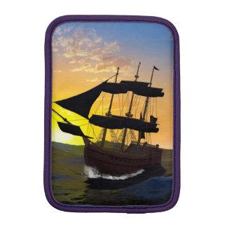 Pirate ship on the high seas iPad mini sleeve