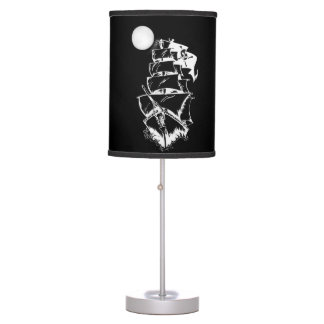 Pirate Ship on the High Seas Desk Lamps