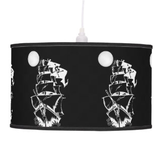 Pirate Ship on the High Seas Hanging Lamps