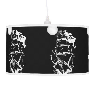 Pirate Ship on the High Seas Pendant Lamp