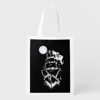 Pirate Ship on the High Seas Market Tote