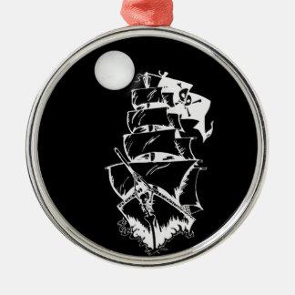 Pirate Ship on the High Seas Christmas Ornaments