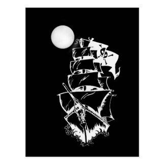 Pirate Ship on the High Seas Postcard