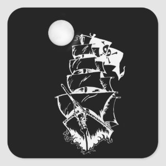 Pirate Ship on the High Seas Stickers