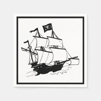 Pirate Ship Paper Napkin
